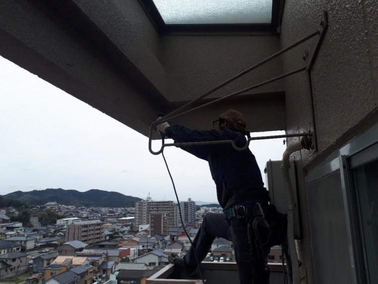 防鳥ネット設置工事 施工写真その5