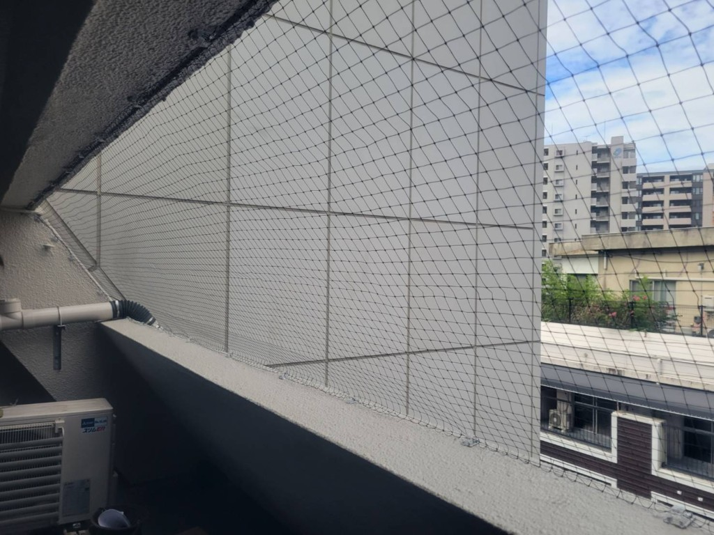 防鳥ネット設置工事